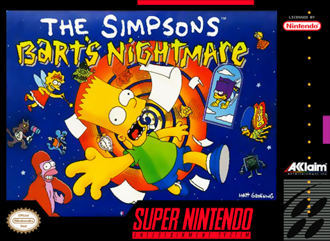 Simpsons, The - Bart's Nightmare Nintendo Super NES cover artwork