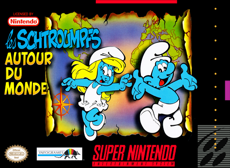 Smurfs 2, The Nintendo Super NES cover artwork