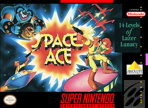 Space Ace Nintendo Super NES cover artwork