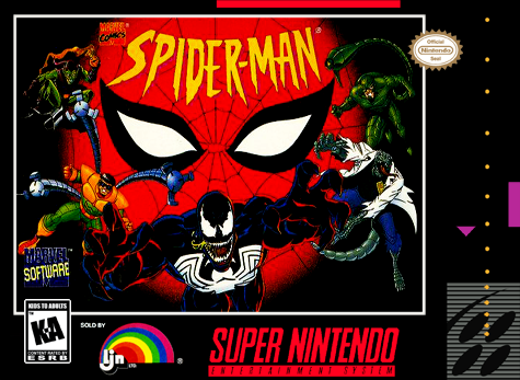 Spider-Man Nintendo Super NES cover artwork