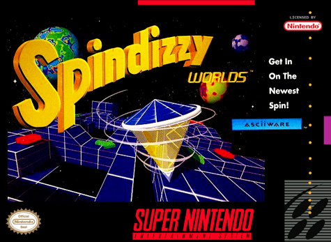 Spindizzy Worlds Nintendo Super NES cover artwork