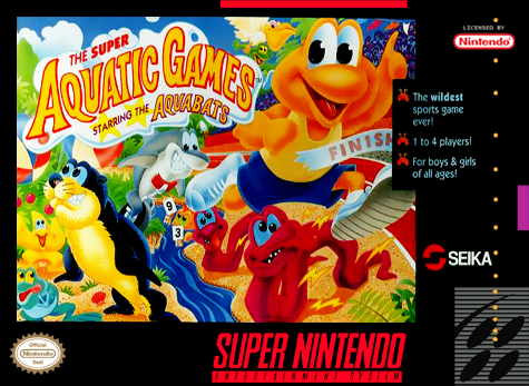 Super Aquatic Games - Starring the Aquabats Nintendo Super NES cover artwork