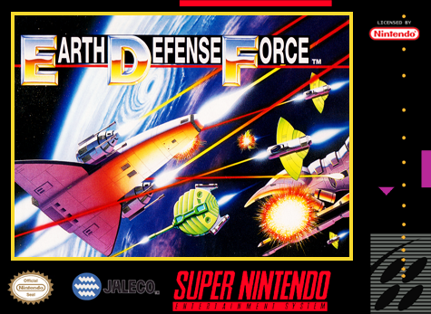 Super Earth Defense Force Nintendo Super NES cover artwork