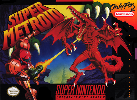 Super Metroid Nintendo Super NES cover artwork