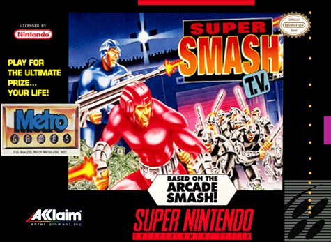 Super Smash T.V. Nintendo Super NES cover artwork