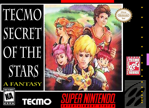 Tecmo Secret of the Stars Nintendo Super NES cover artwork
