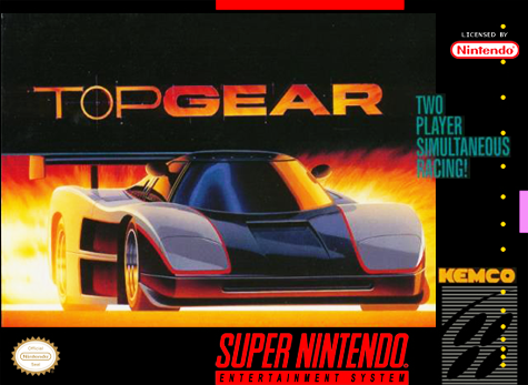 Top Gear Nintendo Super NES cover artwork