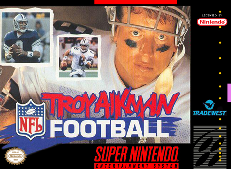 Troy Aikman NFL Football Nintendo Super NES cover artwork
