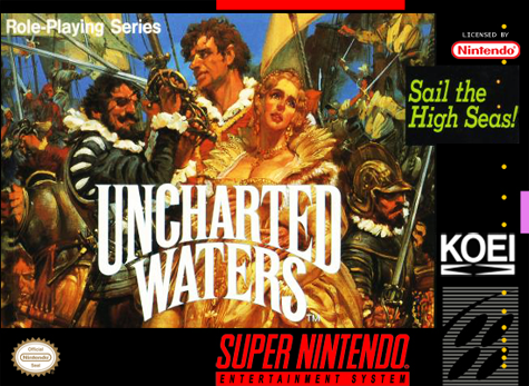 Uncharted Waters Nintendo Super NES cover artwork