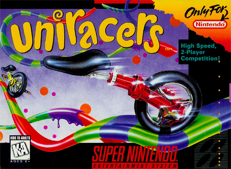 Uniracers Nintendo Super NES cover artwork