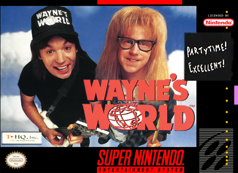 Wayne's World Nintendo Super NES cover artwork