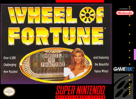 Wheel of Fortune Nintendo Super NES cover artwork