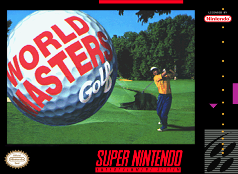 World Masters Golf Nintendo Super NES cover artwork