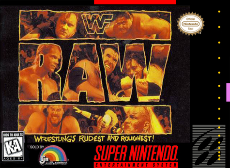 WWF Raw Nintendo Super NES cover artwork