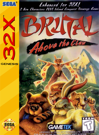 Brutal Unleashed - Above the Claw Sega 32X cover artwork