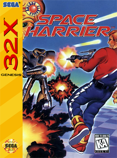 Space Harrier Sega 32X cover artwork