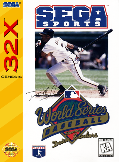 World Series Baseball Starring Deion Sanders Sega 32X cover artwork