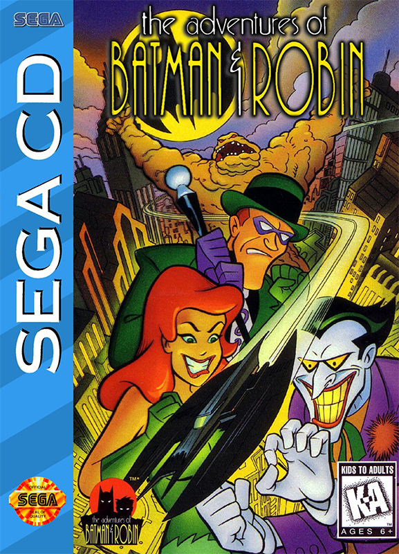 Adventures of Batman & Robin, The Sega CD cover artwork