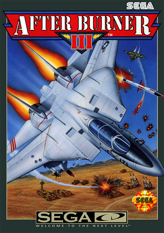 After Burner III Sega CD cover artwork