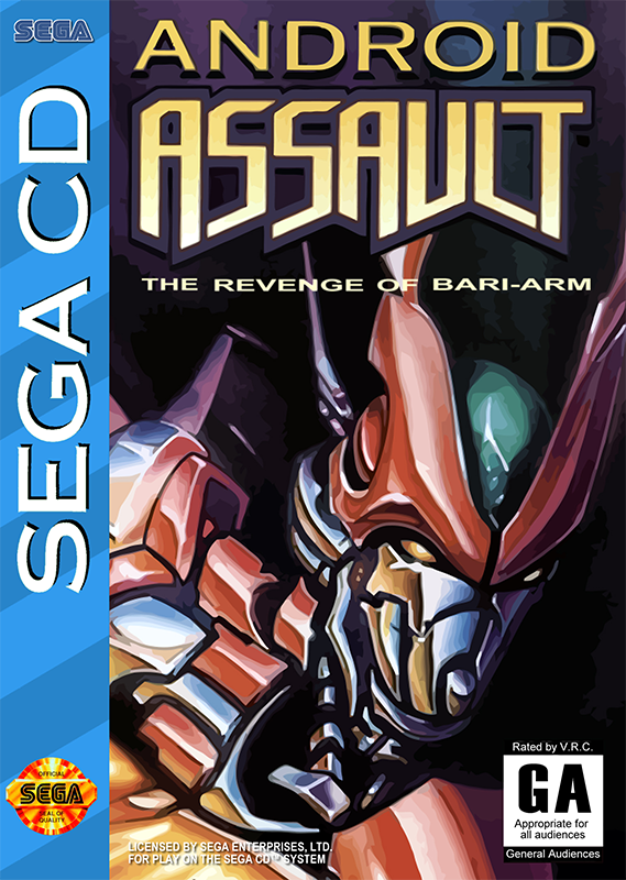 Android Assault Sega CD cover artwork