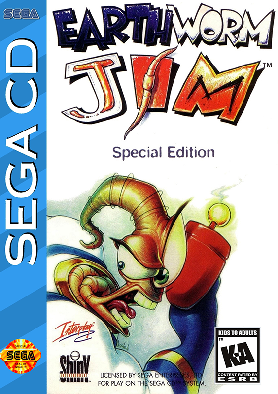 Earthworm Jim - Special Edition Sega CD cover artwork