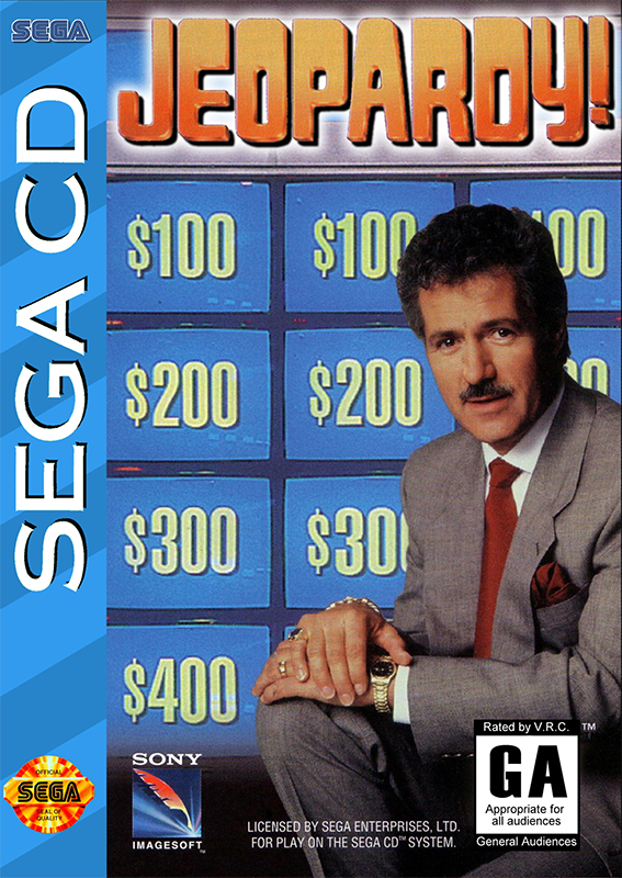 Jeopardy ! Sega CD cover artwork