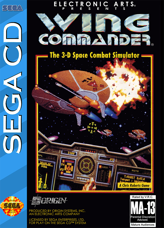 Wing Commander Sega CD cover artwork