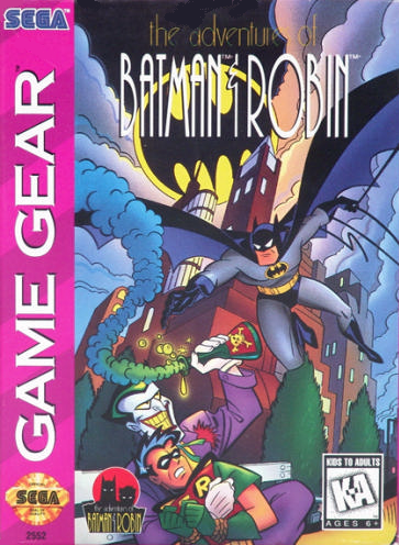 Adventures of Batman & Robin, The Sega Game Gear cover artwork