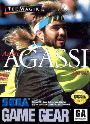 Andre Agassi Tennis Sega Game Gear cover artwork