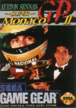 Ayrton Senna's Super Monaco GP II Sega Game Gear cover artwork