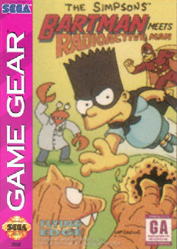 Bartman Meets Radioactive Man Sega Game Gear cover artwork