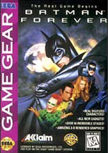 Batman Forever Sega Game Gear cover artwork