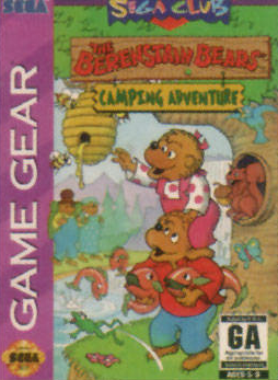 Berenstain Bears' Camping Adventure, The Sega Game Gear cover artwork