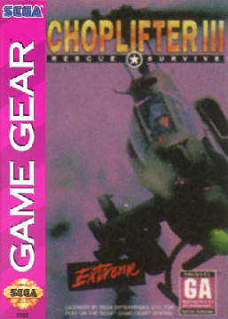 Choplifter III Sega Game Gear cover artwork