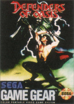 Defenders of Oasis Sega Game Gear cover artwork
