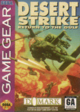 Desert Strike - Return to the Gulf Sega Game Gear cover artwork