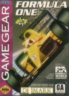 F1 Sega Game Gear cover artwork