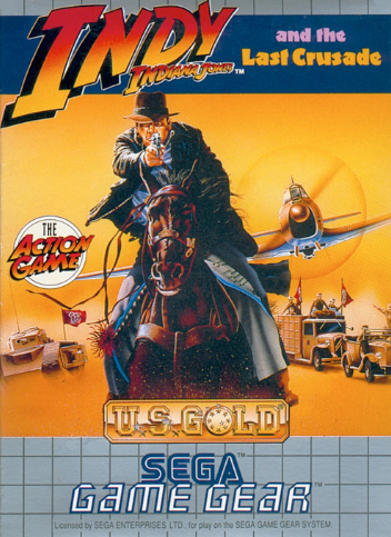 Indiana Jones and the Last Crusade Sega Game Gear cover artwork