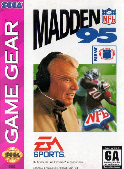Madden NFL '95 Sega Game Gear cover artwork