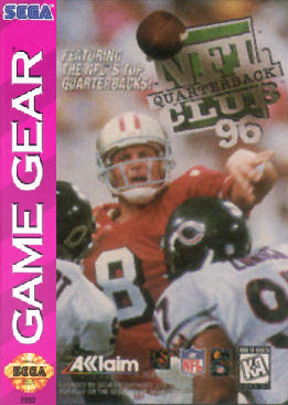 NFL Quarterback Club '96 Sega Game Gear cover artwork