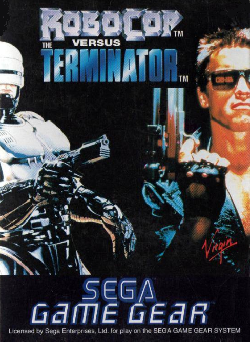 RoboCop versus The Terminator Sega Game Gear cover artwork