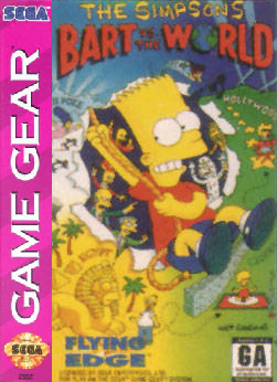 Simpsons, The - Bart vs. The World Sega Game Gear cover artwork