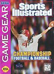 Sports Illustrated Championship Football & Baseball Sega Game Gear cover artwork