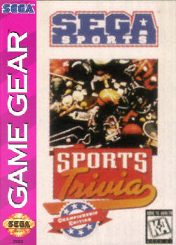 Sports Trivia Sega Game Gear cover artwork