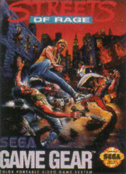 Streets of Rage Sega Game Gear cover artwork