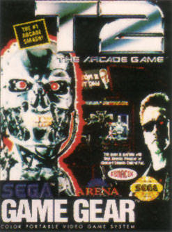 T2 - The Arcade Game Sega Game Gear cover artwork