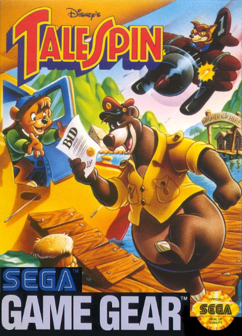 Tale Spin Sega Game Gear cover artwork