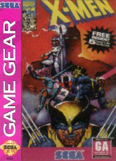 X-Men Sega Game Gear cover artwork