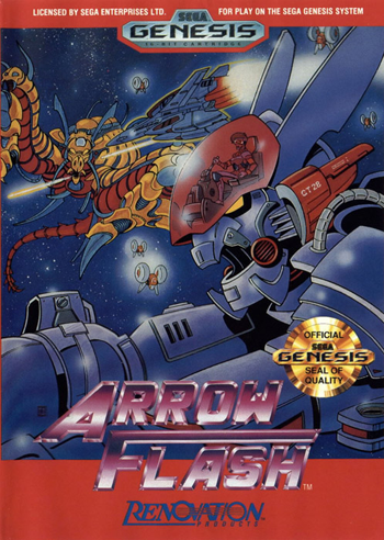 Arrow Flash Sega Genesis cover artwork