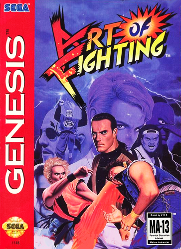 Art of Fighting Sega Genesis cover artwork